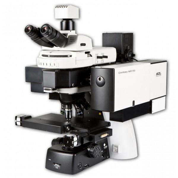 3D сканирующий лазерный Рамановский микроскоп Confotec MR150