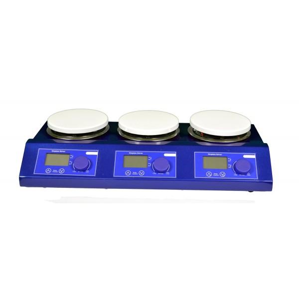 Магнитная мешалка 3-х секционная с подогревом US-3110
