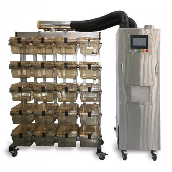 Cистема индивидуально вентилируемых клеток (ИВК) с блоком ВЕНТ-БИО-1М